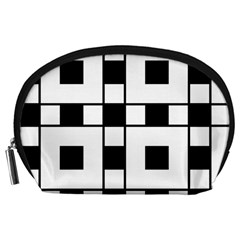 Black And White Pattern Accessory Pouches (large)