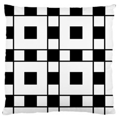 Black And White Pattern Large Flano Cushion Case (one Side)