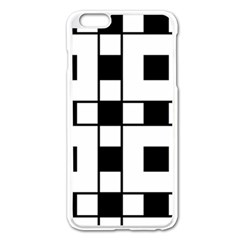 Black And White Pattern Apple Iphone 6 Plus/6s Plus Enamel White Case