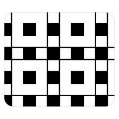 Black And White Pattern Double Sided Flano Blanket (small)