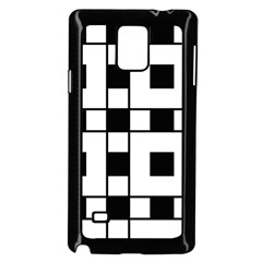 Black And White Pattern Samsung Galaxy Note 4 Case (black)