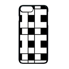 Black And White Pattern Apple Iphone 7 Plus Seamless Case (black)