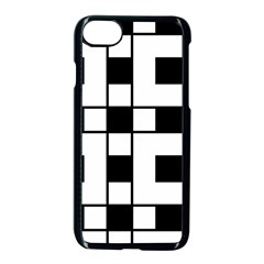 Black And White Pattern Apple Iphone 7 Seamless Case (black)