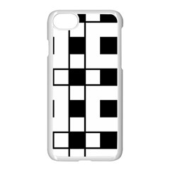 Black And White Pattern Apple Iphone 7 Seamless Case (white)
