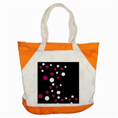 Pink and white dots Accent Tote Bag