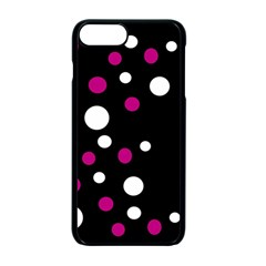 Pink And White Dots Apple Iphone 7 Plus Seamless Case (black)