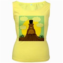 Groundhog Women s Yellow Tank Top