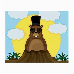 Happy Groundhog day Small Glasses Cloth (2-Side)