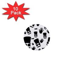 Gentlemen - black and white 1  Mini Buttons (10 pack)