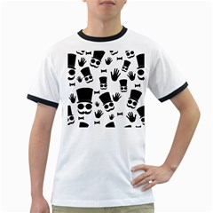 Gentlemen - black and white Ringer T-Shirts