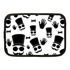 Gentlemen - black and white Netbook Case (Medium)