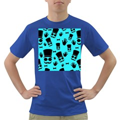 Gentlemen - blue pattern Dark T-Shirt