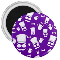 Gentleman pattern - purple and white 3  Magnets