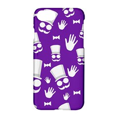 Gentleman Pattern   Purple And White Apple Iphone 7 Hardshell Case