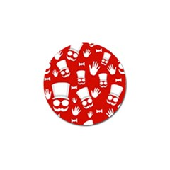 Gentlemen - red and white pattern Golf Ball Marker (10 pack)