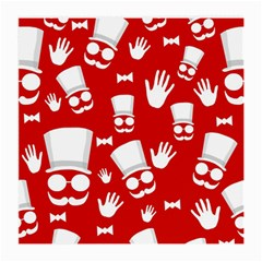 Gentlemen - red and white pattern Medium Glasses Cloth (2-Side)