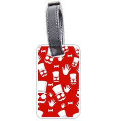 Gentlemen - red and white pattern Luggage Tags (One Side)