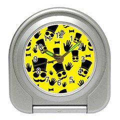 Gentlemen - Yellow pattern Travel Alarm Clocks