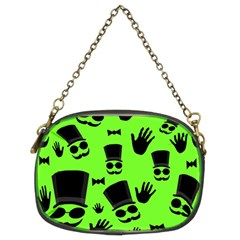 Gentleman - green pattern Chain Purses (Two Sides)
