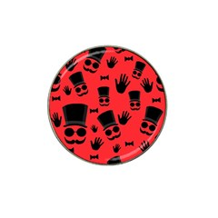 Gentlemen   Red Hat Clip Ball Marker (4 Pack)