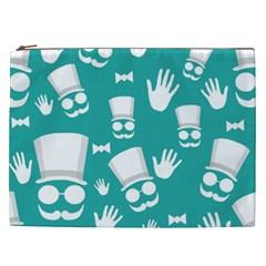 Gentleman Pattern Cosmetic Bag (xxl)