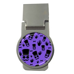 Gentleman purple pattern Money Clips (Round)