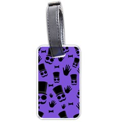 Gentleman purple pattern Luggage Tags (One Side)