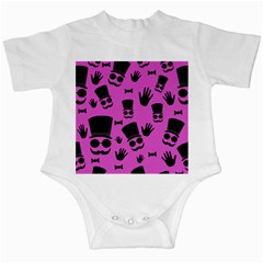 Gentleman - magenta pattern Infant Creepers