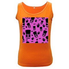 Gentleman - magenta pattern Women s Dark Tank Top