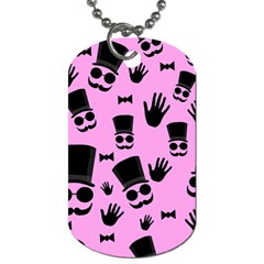 Gentleman - pink pattern Dog Tag (One Side)