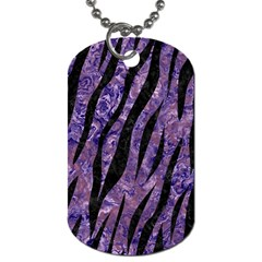 Skin3 Black Marble & Purple Marble (r) Dog Tag (two Sides)