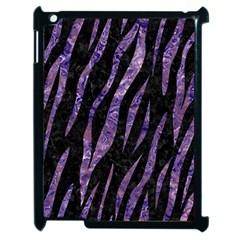 Skin3 Black Marble & Purple Marble Apple Ipad 2 Case (black)