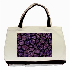 Skin1 Black Marble & Purple Marble Basic Tote Bag (two Sides)