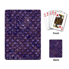 Scales2 Black Marble & Purple Marble (r) Playing Cards Single Design