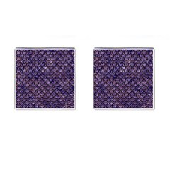 Scales2 Black Marble & Purple Marble (r) Cufflinks (square)