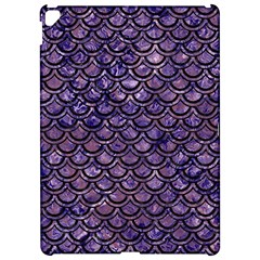Scales2 Black Marble & Purple Marble (r) Apple Ipad Pro 12 9   Hardshell Case