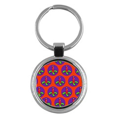 Christmas Candles Seamless Pattern Key Chains (round)