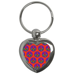Christmas Candles Seamless Pattern Key Chains (heart)