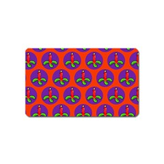 Christmas Candles Seamless Pattern Magnet (name Card)