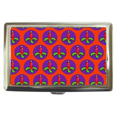 Christmas Candles Seamless Pattern Cigarette Money Cases