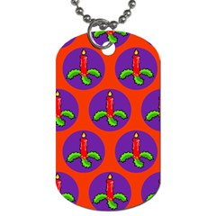 Christmas Candles Seamless Pattern Dog Tag (two Sides)
