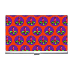Christmas Candles Seamless Pattern Business Card Holders