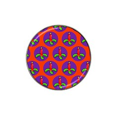 Christmas Candles Seamless Pattern Hat Clip Ball Marker