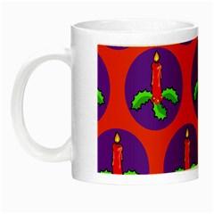 Christmas Candles Seamless Pattern Night Luminous Mugs
