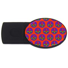 Christmas Candles Seamless Pattern Usb Flash Drive Oval (4 Gb)