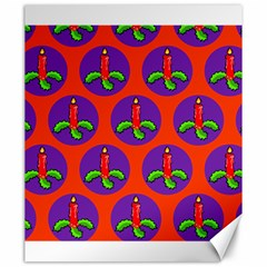 Christmas Candles Seamless Pattern Canvas 20  X 24