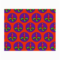 Christmas Candles Seamless Pattern Small Glasses Cloth (2 Side)