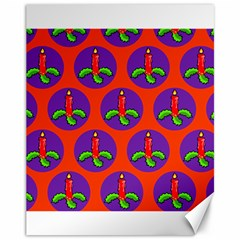 Christmas Candles Seamless Pattern Canvas 11  X 14