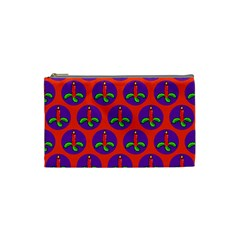 Christmas Candles Seamless Pattern Cosmetic Bag (small)