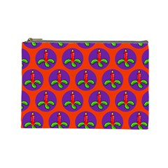 Christmas Candles Seamless Pattern Cosmetic Bag (large)